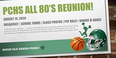 PCHS All 80's Reunion 2020 tickets