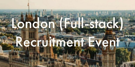 London [VIRTUAL] Full-stack Recruitment event tickets