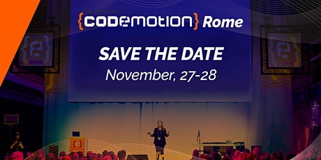 Codemotion Rome 2020 - Conference (November 27-28) biglietti