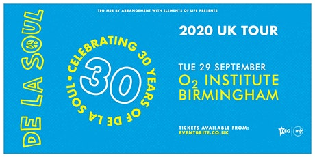 De La Soul - Celebrating 30 Years of De La Soul (O2 Institute, Birmingham) tickets