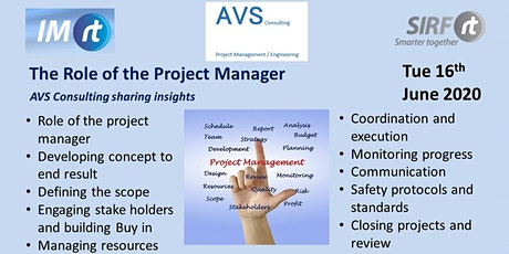 VICTAS Role of the Project Manager -  Virtual Common Interest Work Group tickets