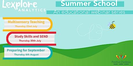 Webinar Summer School: Exploring Multisensory Teaching tickets