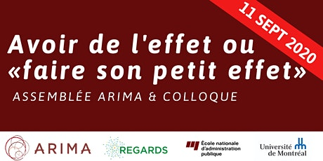 Assemblée & Colloque ARIMA-REGARDS billets