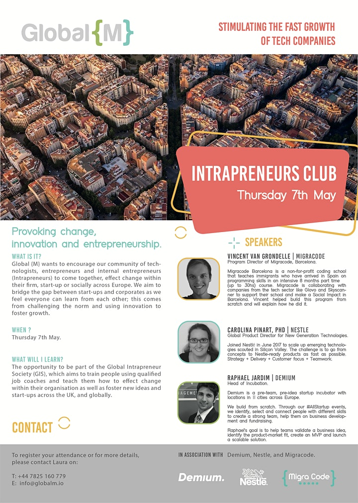 Intrapreneur Club: Tech Start-up, Corporate, and Not-for-profit. image