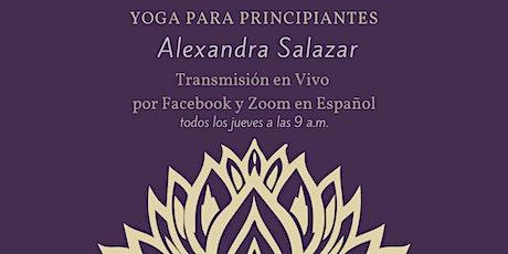 Yoga Suave con Alexandra Salazar | Live on Zoom y Facebook tickets