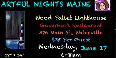 Wood Pallet Lighthouse at Governor's Restaurant, Waterville tickets