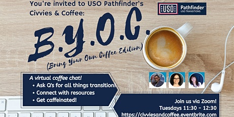 """Civvies & Coffee"" - A Tuesday Virtual Q&A Chat with USO Pathfinder tickets"