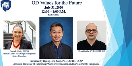 Webinar 4: OD Values for the Future tickets