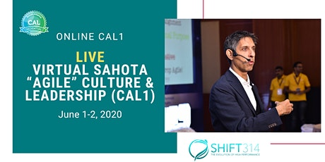 "ONLINE Live Virtual  Sahota ""Agile"" Culture & Leadership (CAL1) tickets"