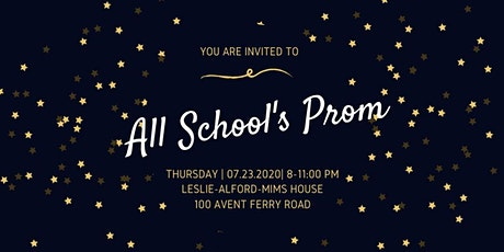 All Schools Prom 2020 tickets