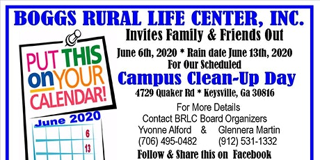 Boggs Campus Clean-Up tickets