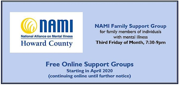 NAMI Howard County Online Family Support Group image