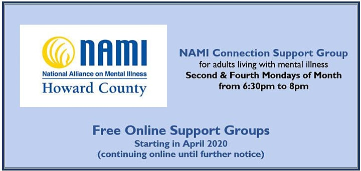 NAMI Howard County Online Connection Support Group image