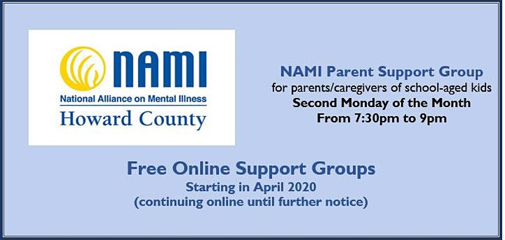 NAMI Howard County Online  Parent Support Group image