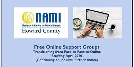 NAMI Howard County Online  Parent Support Group tickets
