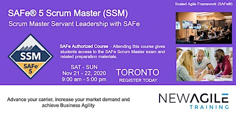 SAFe® 5.0 Scrum Master (SSM) Certification Training in Toronto tickets