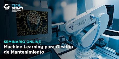 SEMINARIO: Machine Learning para Gestión de Mantenimiento boletos