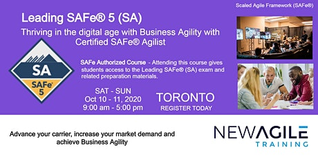 Leading SAFe® 5 (SA) Certification Training in TORONTO tickets