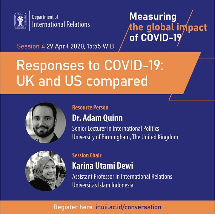 IR UII in Conversation: Responses to COVID-19 - UK and US compared image