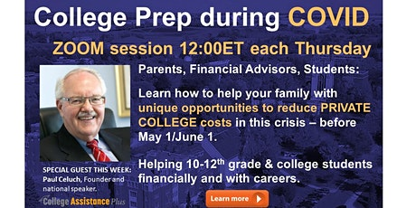 Weekly College Prep Webinar with Q&A tickets