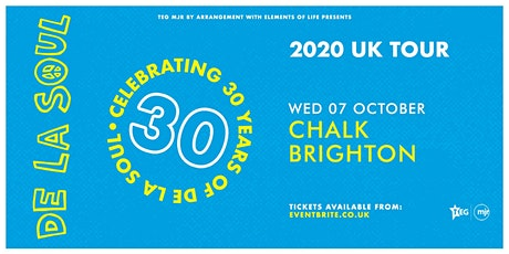 De La Soul - Celebrating 30 Years of De La Soul (Chalk, Brighton) tickets