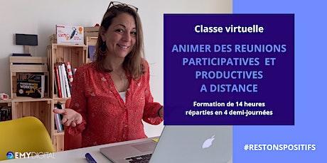 Classe virtuelle - Animer des réunions participatives  à distance billets