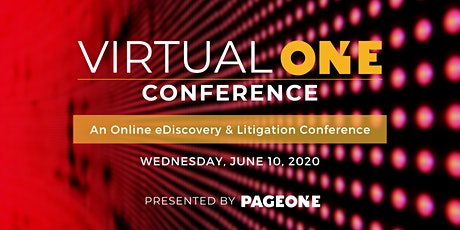 Virtual One Conference tickets