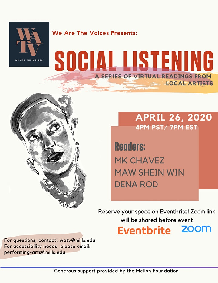 We Are The Voices Presents: SOCIAL LISTENING with MK Chavez & More image