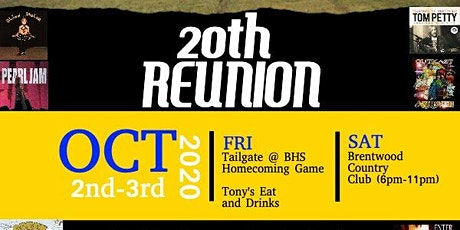 20th Year Reunion -  BHS Class of 2000 tickets