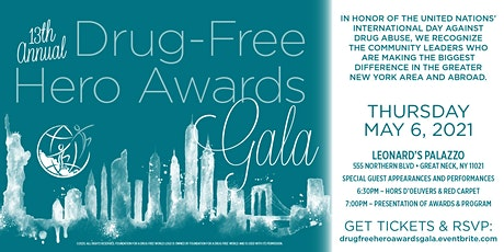 13th Annual Drug Free Hero Awards Gala tickets