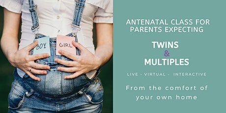 Antenatal Class for parents expecting Twins & Multiples - live, online tickets