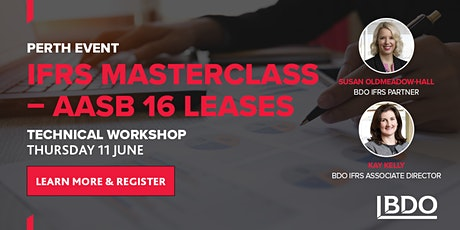 IFRS Masterclass - AASB 16 Leases (Perth) tickets