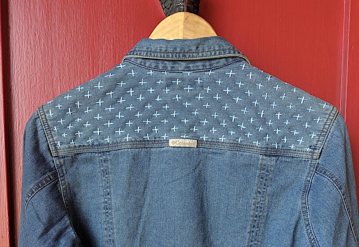 Visible Mending, Sashiko and Denim Stitching Online (all supplies included) image