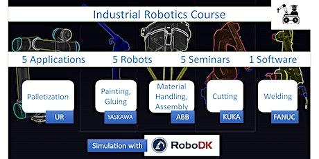 Industrial Robotics- 5 Applications,5 Robots,1 software tickets