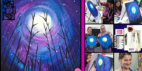Purple Night (Paint and Sip Online Class) tickets