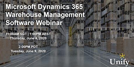 Microsoft Dynamics 365 Supply Chain Warehouse Management Software Webinar tickets