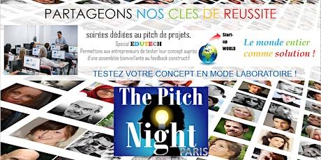 "Pitch Night Paris spécial ""Edutech"" billets"