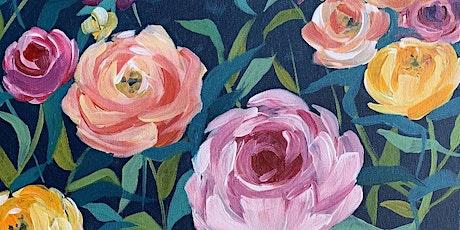 Roses & Rosé - Online Paint & Sip tickets