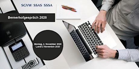 Bernerhof-Gespräch 2020 / Débats 2020 au Bernerhof tickets