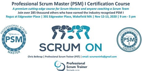 Scrum.org Professional Scrum Master PSM - Wakefield MA - Nov 12-13, 2020 tickets
