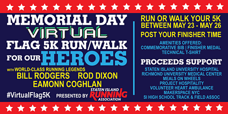 Memorial Day Virtual Flag 5K Run/Walk for our Heroes tickets