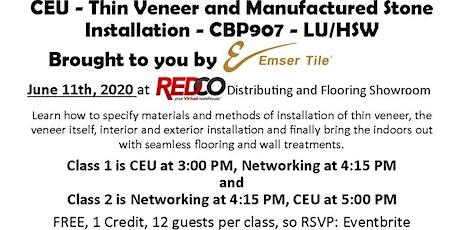 Austin Live & Virtual CEU - Veneer & Stone  Installation  Indoors/Outdoors tickets