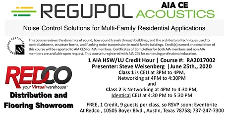 Austin Live & Virtual CEU - Noise  Solutions Multi-Family Residential Use tickets