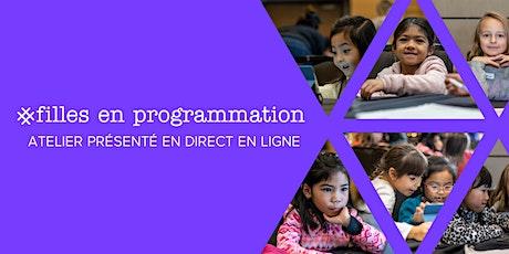 Atelier en direct en ligne Filles en programmation: Journée nationale Filles  en programmation : Lutter contre la cyberintimidation avec l'apprentissage automatique (pour les enfant Enfants de 9 à 12 ans + adulte responsable ans) - Virtual Room 11-TS billets