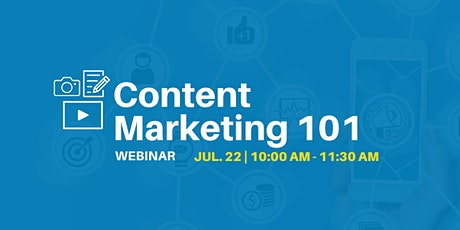 Content Marketing 101 - Webinar tickets