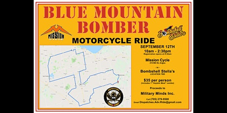 BLUE MOUNTAIN BOMBER Motorcycle Ride tickets