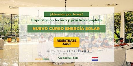 Nuevo Curso Energía Solar | Técnico y Práctico Completo  (20 y 21/JUL) entradas