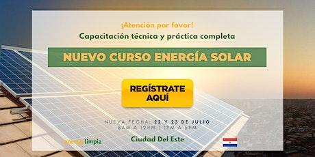 Nuevo Curso Energía Solar | Técnico y Práctico Completo  (22 y 23/JUL) entradas