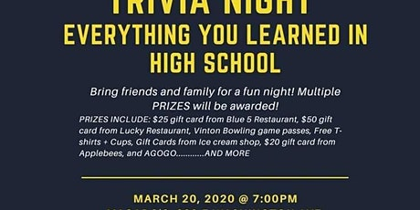 Trivia Night at Macado's - Postponed tickets