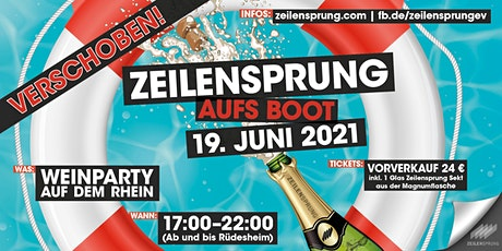 ZEILENSPRUNG Bootsparty Tickets